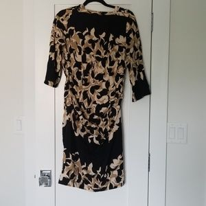 Tracy Reese Ruched 3/4 Sleeve Dress